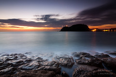 Mice are nocturnal II (saki_axat) Tags: sea seascape sunrise mouse rocks amanecer ratn getaria canonikos