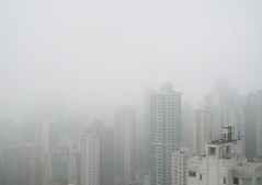 Hong Kong White Skyline - 2010 (REDUX) (A China) Tags: china white mist fog skyline hongkong daytime  atmospheric  bestcapturesaoi mygearandme mygearandmepremium mygearandmebronze mygearandmesilver