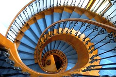 blue carpet (BigMs.Take) Tags: homes architecture stairs design nikon interiors steps stairwell staircase bangladesh spiralstaircase d300 bluecarpet woodenhandrails excellent flickrfriends