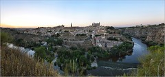 Panoramic view of Toledo at sunset (Stefan Cioata) Tags: travel sunset vacation panorama holiday detail tourism beautiful river photography photo site spain nikon scenery europe view image sale exploring details great stock scene best explore toledo getty destination top10 available d800 outstanding hudge touristical rezolution