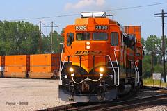 Southbound BNSF Transfer Train at Kansas City, MO (Mo-Pump) Tags: railroad train locomotive railfan railroader