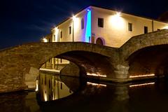 The Blue Light (Kathy~) Tags: italy comacchio blue light night bridge herowinner thechallengefactory ultraherowinner fotocompetition fotocompetitionbronze instagram