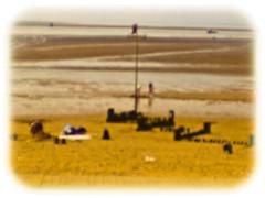 Hunstanton beach (liam black ( needing inspiration )) Tags: beach lensbaby seaside holidays norfolk olympus plastic aged e30 hunstanton optic