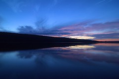 Hemlock Lake (Tom Pruzenski) Tags: blue sunset art water clouds photography interesting nikon pretty smooth explore fingerlakes cloudporn refection explored