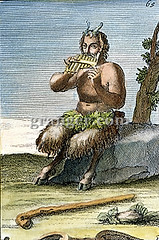 0042100 (Granger Historical Picture Archive) Tags: music exterior god shepherd arnold pipe engraving pan van pastoral satyr westerhout