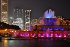 Buckingham Fountain in Blue and Magenta (Seth Oliver Photographic Art) Tags: nightphotography chicago fountain reflections landscapes illinois nikon midwest cityscapes citylights nightshots pinoy downtownchicago circularpolarizer urbanscapes secondcity windycity longexposures chicagoist d90 nightexposures 10secondexposure wetreflections cityofbigshoulders chicagolandmarks parkthe aperturef71 skylinechicago setholiver1 18105mmnikkorlens tripodmountedshot remotetriggeredshot shutterspeedprioritymode nightgrant loopbuckingham