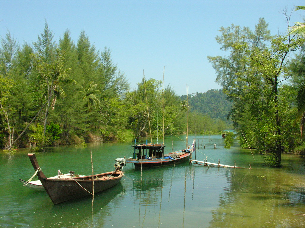 The monkey view river, Ko Phra Thong, Southern Thailand
