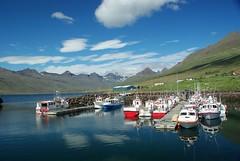 Les fjords de l'est (Islande) (PierreG_09) Tags: mer architecture port iceland islandia village fjord maison islande stvarfjrur fjordsdelest