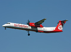 D-ABQE DHC8-402Q Air Berlin (Keith B Pics) Tags: stansted stn dash8 bombardier airberlin dhc8 egss dabqe