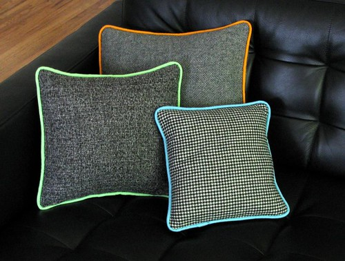 corded pillow trio
