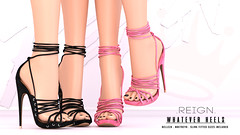 REIGN.- WHATEVER HEELS (Kenadee Reign) Tags: reign teamreign freya heels hourglass maitreya mesh belleza body blueberry slink shoes secondlife summer