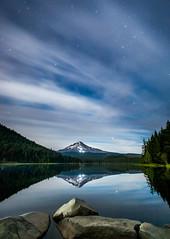 Stars Cloudy Trillium Lake (Alene Davis) Tags: trilliumlake mthood nightsky nightphotography stars longexposure
