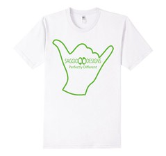 Saggio Designs Logo Outline White T-Shirt (Saggio Designs) Tags: different live tshirt your passion designs success determination persistence saggio individuality perfectly