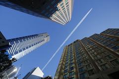 jetstream (keith midson) Tags: melbourne jetstream plane city skyscraper buildings architecture sky aeroplane