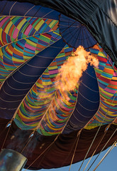 Fire (Geoff Livingston) Tags: hotair balloon helium travel tourism aerial flight color rainbow bluesky dc flying circus