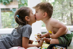 East Hampton, Aug 2016 (Philip DiResta) Tags: crayola markers art coloring playing creative love kiss siblings brotherandsister brother sister