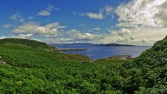 Fernorama (Bricheno) Tags: rothesay isleofbute bute bricheno westislandway rubhaneun lighthouse weecumbrae glencallumbay scotland escocia schottland écosse scozia escòcia szkocja scoția 蘇格蘭 स्कॉटलैंड σκωτία panorama ferns cumbrae island argyll argyle kingarth kilchattan kilchattanbay wiw