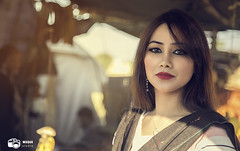 Beauty in Sunset (Waqar Hameed) Tags: canon sunset girl portrait beauty pakistan