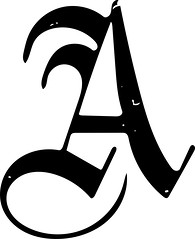 "Letter ""A"" (sjrankin) Tags: 19august2016 edited library britishlibrary character letter alphabet vector vectorized illustration grayscale a"
