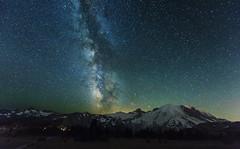 Milky Way over Mt Rainier (Mt Rainier NP, WA) (Sveta Imnadze.) Tags: nature landscape nightsky milkyway sunrise mtrainiernp wa wow