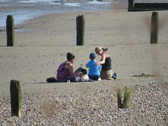 3514 'Are you ok Love?' (Andy panomaniacanonymous) Tags: 20160816 bbb beach ccc coast hhh holidaymakers kent littlestoneonsea people ppp sand shingle sss