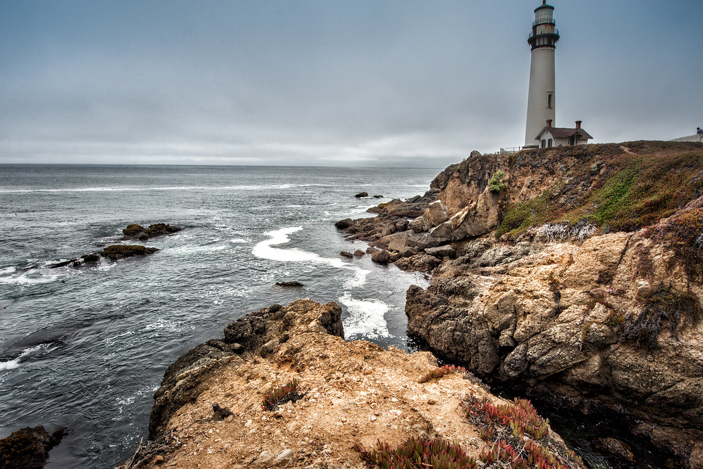 Pigeon Point Lighthouse along California's coastline just south of San Francisco