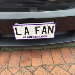 LA FAN (chestnutgrey) Tags: sarahoettli chestnutgrey iphone iphone6 iphoneography apple appleiphone appleiphone6 numberplate numberplates registrationplate registrationplates personalplate personalplates vanityplate