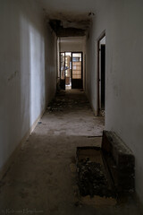 Forgotten luggage (rvanhegelsom) Tags: europe old urban abandoned portugal indoor exploration hospital forgotten urbex indoors sanatorium urbanexploration corridor luggage