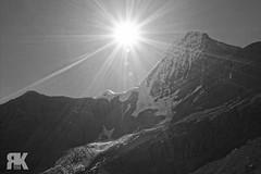 Mount Robson (ryan.kole32) Tags: britishcolumbia bc berglake berglaketrailmountrobson mountrobsonprovincialpark provincialpark monochrome blackandwhite black white sunstrea sunstreak sunburst glacier bergglacier sony sonya77 travel outdoors hiking landscape nature beauty beautyinnature