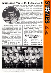 Maidstone United vs Northampton Town - 1990 - Page 11 (The Sky Strikers) Tags: maidstone united northampton town barclays league division four stones official match programme one pound