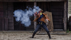 Duel (ericbeaume) Tags: nikon d5100 18300mm sigma duel western cowboys smoke gun ericbeaume