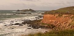 DSC_2347CV (mike193823319483) Tags: godrevy cornwall uk lighthouse island rocks sky grey gray seascape geology britain coast coastline waves sea headland cliffs beaches