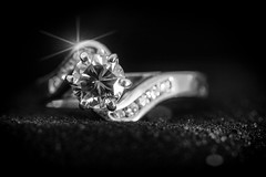 Diamond are forever (orothy) Tags: diamondsareforever diamonds gold ring light macro monochrome blackandwhite sc916