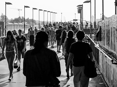 rush (ohnede) Tags: crowd people morning rush hour bw blackandwhite publictransport
