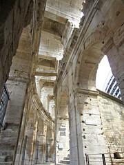 Arles Amphitheatre (AmyEAnderson) Tags: outdoor arles amphitheatre coliseum france provence bouchesdurhone roman romanesque historic stadium sporting limestone architecture masonry angles unesco