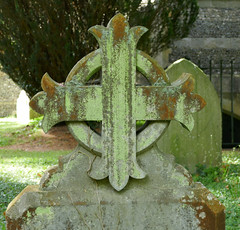 Grave marker, mossy (Monceau) Tags: gravemarker mossy cross circle stkatharineschurch savernake wiltshire graves cemetery
