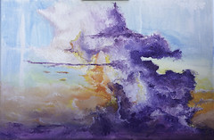 Sunset no.01 (TheDeltaMachine) Tags: oil oiloncanvas landscape sky clouds cloud sundown sunset painting art contemporary realism