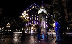 Gastown, we meet again. (mlaguardia.ca) Tags: color exposure purple people lights nikon d7200 longexposure