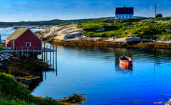 Calm Water at Peggys Cove (kenmojr) Tags: 2016 atlantic atlanticprovinces blue boat boats d7000 calm canada cloud clouds coast coastal cove eastern fisheye fishing halifax home homes house houses hrm july kenmorris kenmo maritime maritimeprovinces maritimes mirror nikon ocean peggys peggyscove quiet red reflection reflections rocky sea shack shacks shed sheds skies sky still summer village wharf