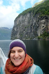 Lauren on Geirangerfjord (laurengolder) Tags: honeymoon norway geirangerfjord geiranger