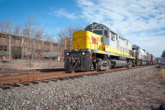 414 On The Lead 3-5-16 (Daniel J. Kirby) Tags: danieljkirbyphotography delaware east lackawanna lehigh pennsylvania valley pa straight yellow