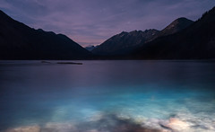 Weird Night (zh3nya) Tags: stehekin eerie cold night strange surreal dark shadow water chelan lake blue d750 sigma35mmf14 mountains peaks mcgregor float afloat silhouette stars sky northcascades northcascadesnationalpark blur longexposure washington pnw pacificnorthwest