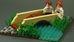 A walk in the park... (N-11 Ordo) Tags: park bridge people green water grass river perfect girlfriend day with lego walk sunday peaceful your makes technique ordo spend n11 a n11ordo