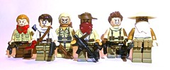 Desert adventurers (Yappen All Day Long) Tags: 2 3 paul 1 jones gun shot desert lego jimmy ak indiana off pistol brazilian machete shotgun 74 47 slum ak47 raiders m9 adventurers ak74 sawn uncharted rustle shotty brickarms brickforge 74u ak74u ak47u