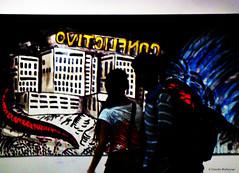 oʌıʇɔılɟuoɔ / ǝʌıʇɔılɟuoɔ (Claudio.Ar) Tags: city people color art topf25 argentina painting buenosaires couple gente pareja candid sony young ciudad dsc pintura galeriaspacifico h9 vividimagination sotn claudioar claudiomufarrege vividstriking