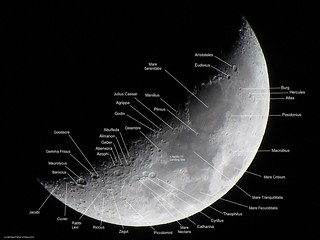 Waxing Crescent Moon (Labeled) - April 27, 2012