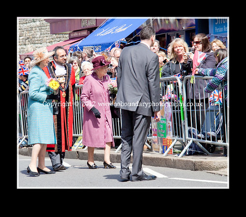 Local residents meet Her Majesty The Queen at Windsor Guildhall-98