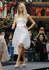 Paris Hilton at The Grove helping launch her mother's new fashion line 'The Kathy Hilton collection' at Nordstroms Los Angeles, California