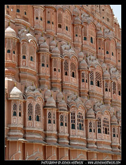 Hawa Mahal, Jaipur (JH_1982) Tags: travel pink windows red vacation india holiday building travelling tourism architecture sandstone sightseeing mahal landmark palace tourist palais traveling breeze krishna winds der indien jaipur palast pratap rajasthan vents 2012 inde lal singh hawa maharaja chand mughal  rajput ustad   953 winde ndia sawai     jharokhas    jochenhertweck