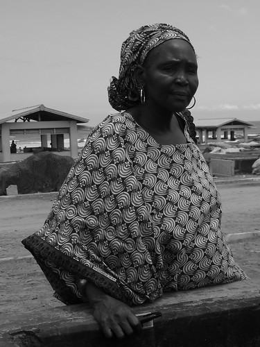 "President of the ""women in fish processing"" association and treasurer of the marine protected area, Kayar, Senegal. Photo by Anne Delaporte, 2011"
